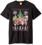 Nickelodeon Men's 90s Nick Rewind Ugly Christmas T-Shirt