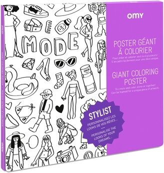 Omy Stylist Giant Coloring Poster