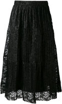See by Chloe pleated skirt - women - Polyester/Viscose - 34