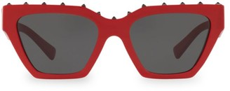 Valentino VA4046 Solid Red 53MM Cat Eye Sunglasses
