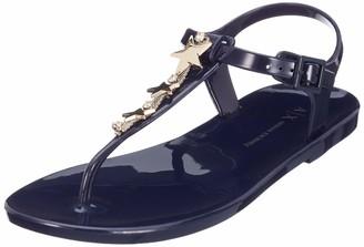A|X Armani Exchange Women's Rubber Flat Sandal Blue Moon 41 M EU (10 US)