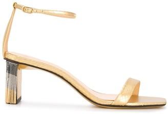 Alexandre Birman Embossed Style Fringed Detail Sandals