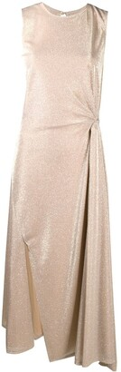 Lanvin Sleeveless Draped Dress