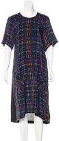 Preen Line Silk Plaid Dress