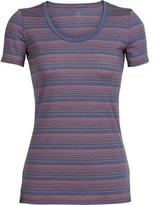 Icebreaker Women's Tech Lite Short Sleeve Scoop Stripe Tee