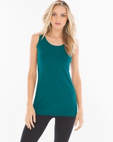 Soma Intimates Pima Cotton Tunic Layering Tank Deep Teal
