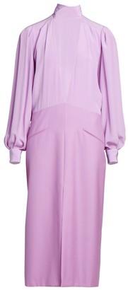 Givenchy V-Neck Silk Midi Dress