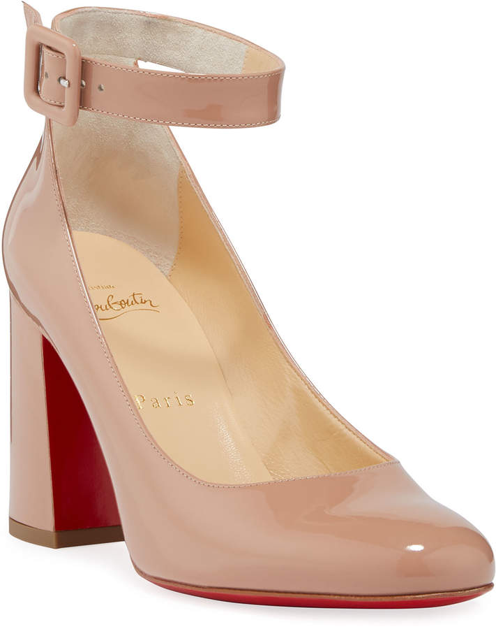 7f4f8aa5a50 Soval Patent Red Sole Pumps