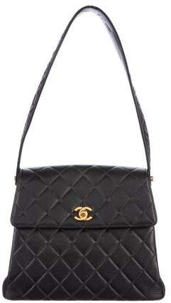 Chanel Quilted Caviar Kelly Shoulder Bag