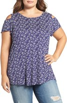 Lucky Brand Plus Size Women's Cold Shoulder Top