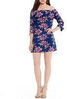 B. Darlin Off-The-Shoulder Floral Print Shift Dress