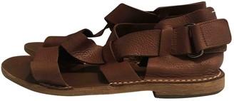 Maison Margiela Brown Leather Sandals