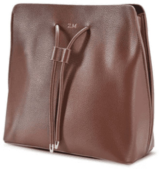 ThreeSixFive Coffee Brown vegan Leather Slouchy Bag