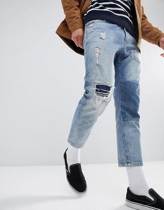 Just Junkies Cropped Patch Jean