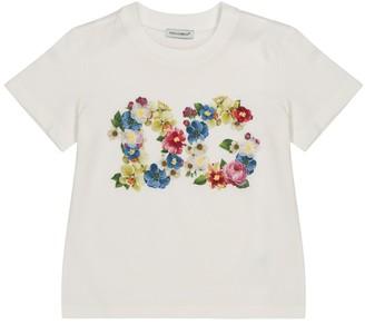 Dolce & Gabbana Kids Embellished cotton-jersey T-shirt