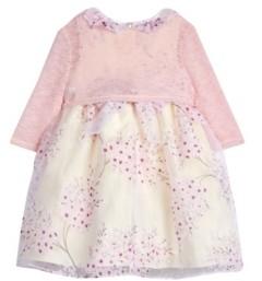 Laura Ashley Baby Girls London Floral Organza Print Dress with Shrug