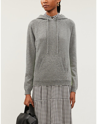 Chinti and Parker Side-stripe cashmere hoody