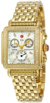 Michele Deco Day Mother of Pearl Dial Diamond Dial Watch