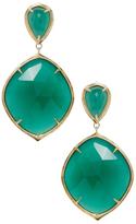 Ila Keely 14K Yellow Gold, Green Onyx & Emerald Drop Earrings