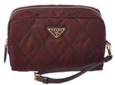 Prada Quilted Nylon Cosmetic Pouch.