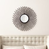 Crate & Barrel Dahlia Round Wall Mirror