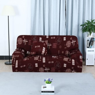 Unique Bargains Home 1/2/3/4 Seats Stretch Cover Sofa Cover Loveseat Slipcovers