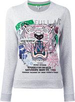 Kenzo tiger slogan print sweatshirt