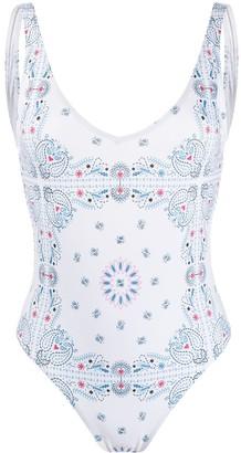 Sian Swimwear Zee bandana-print swimsuit