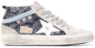 Golden Goose Mid Star sequinned high-top sneakers