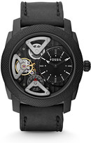 Fossil Machine Twist Black Leather Watch