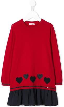 Liu Jo Kids layered knit dress