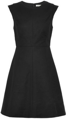 Halston Fluted Stretch-cotton Mini Dress