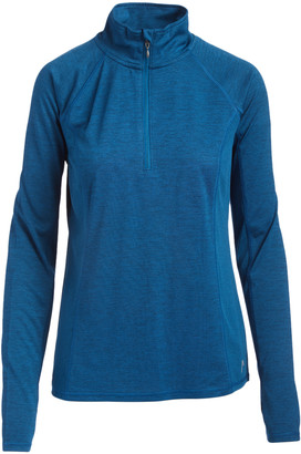 Head Women's Pullover Sweaters SAILOR - Sailor Blue Heather Millennial Half-Zip Pullover - Women