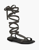 Free People Dahlia Suede Lace-Up Sandals