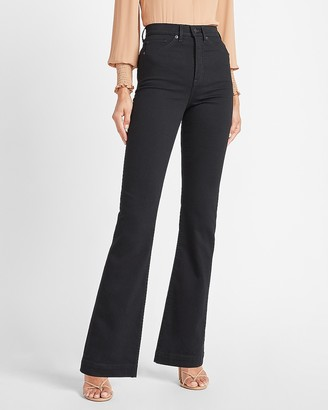 Express Super High Waisted Black Bootcut Jeans