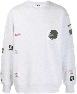 MSGM patched sweatshirt