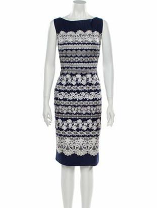 Oscar de la Renta 2014 Knee-Length Dress Blue