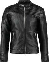 Jack & Jones Jcosmith Faux Leather Jacket Black