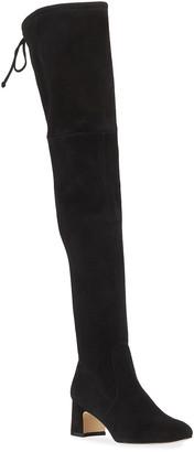 Stuart Weitzman Kirstie 60mm Suede Over-The-Knee Boots