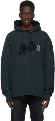 we11done Khaki Pearl Logo Hoodie
