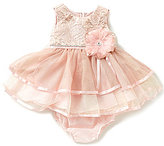 Rare Editions Baby Girls 3-24 Months Metallic Brocade Dress