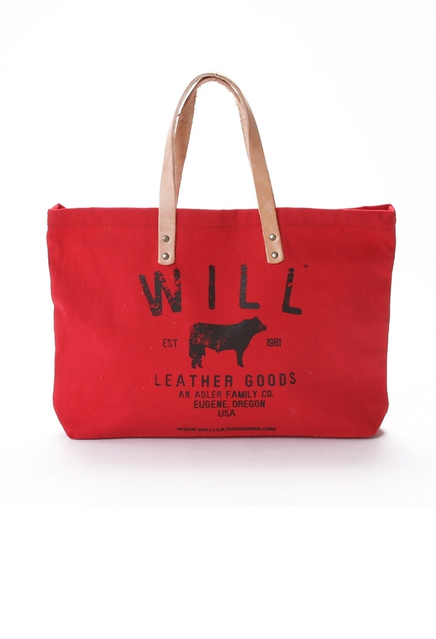 Will Leather Goods Small Classic Carry-All in Red