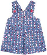 Jean Bourget Printed Pleated Dress