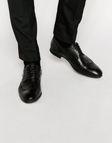 Selected Homme Latin Brogue Leather Shoe - Black