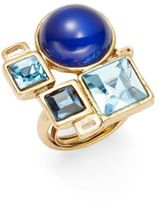 Oscar de la Renta Crystal Geometric Statement Ring