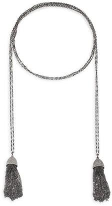 Nina Gilin Diamond Tassel Wrap Necklace