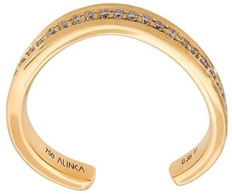 Alinka 'TANIA' thumb ring diamond full surround