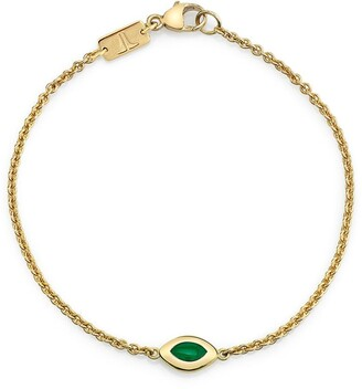 Andy Lif 18kt gold Cats Eye bracelet