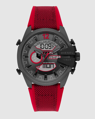 Diesel Men's Watches - Mega Chief Red Analogue-Digital Watch - Size One Size at The Iconic