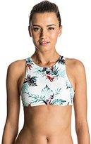 Roxy Women's Shady Palm Cropped Bikini Top